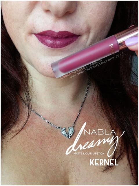 kernel Dreamy Matte Liquid Lipstick rossetto liquido nabla cosmetics applicazione mouth labbra