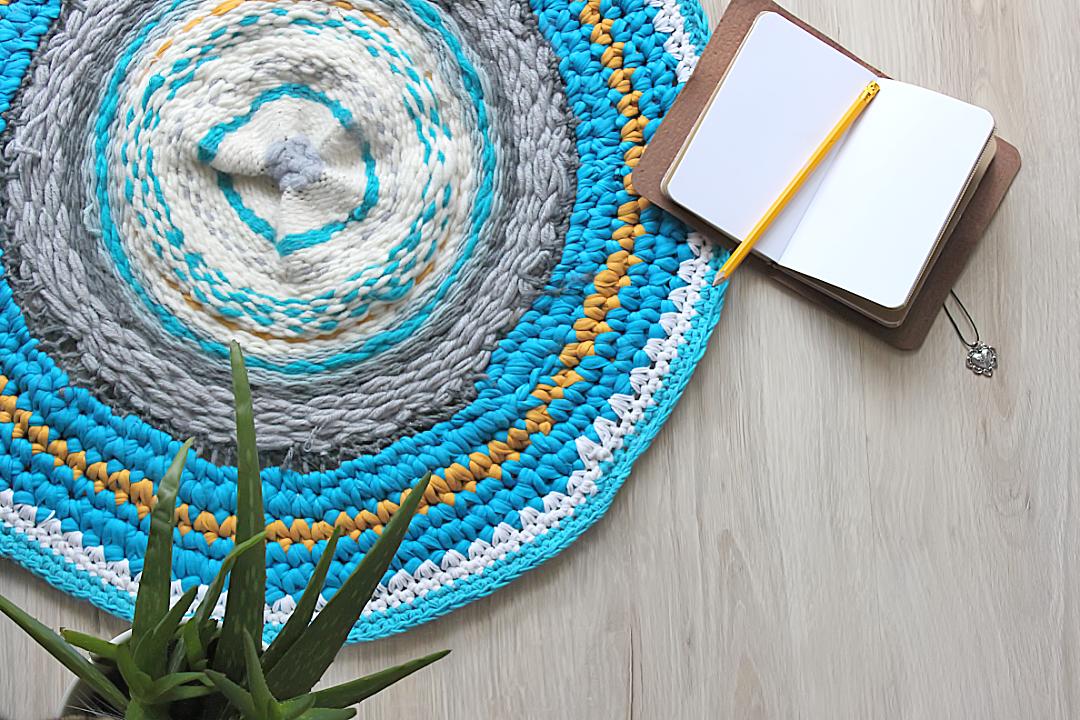 jak upleść dywanik