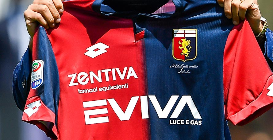 8fa9d9c2f Genoa CFC and Lotto released the club s new 18-19 home kit last weekend.  The Lotto Genoa 2018-2019 home uniform is already available to buy.