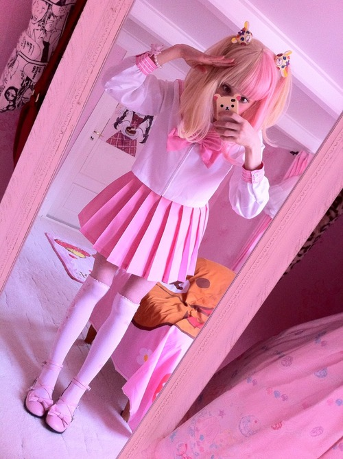 cute outfits: aww..anime cosplay pink and cute