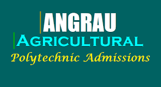 ANGRAU Agriculture Polytechnic Admission Notification