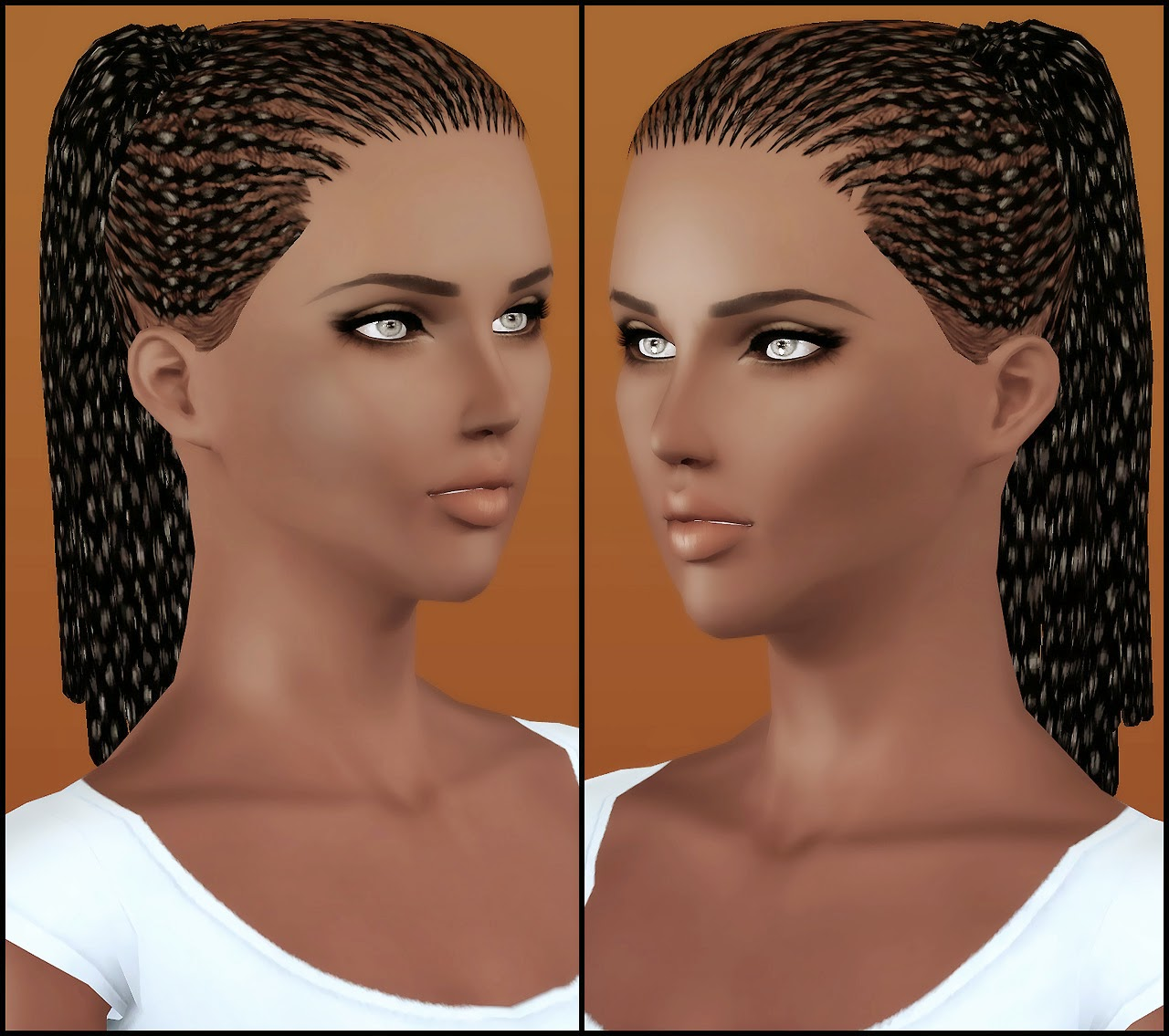 My Sims 3 Blog Ts2 To Ts3 Nouk Hair Thin Braids Ponytail