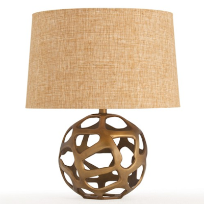 Copy Cat Chic Arteriors Ennis Antique Brass Web Sphere Lamp