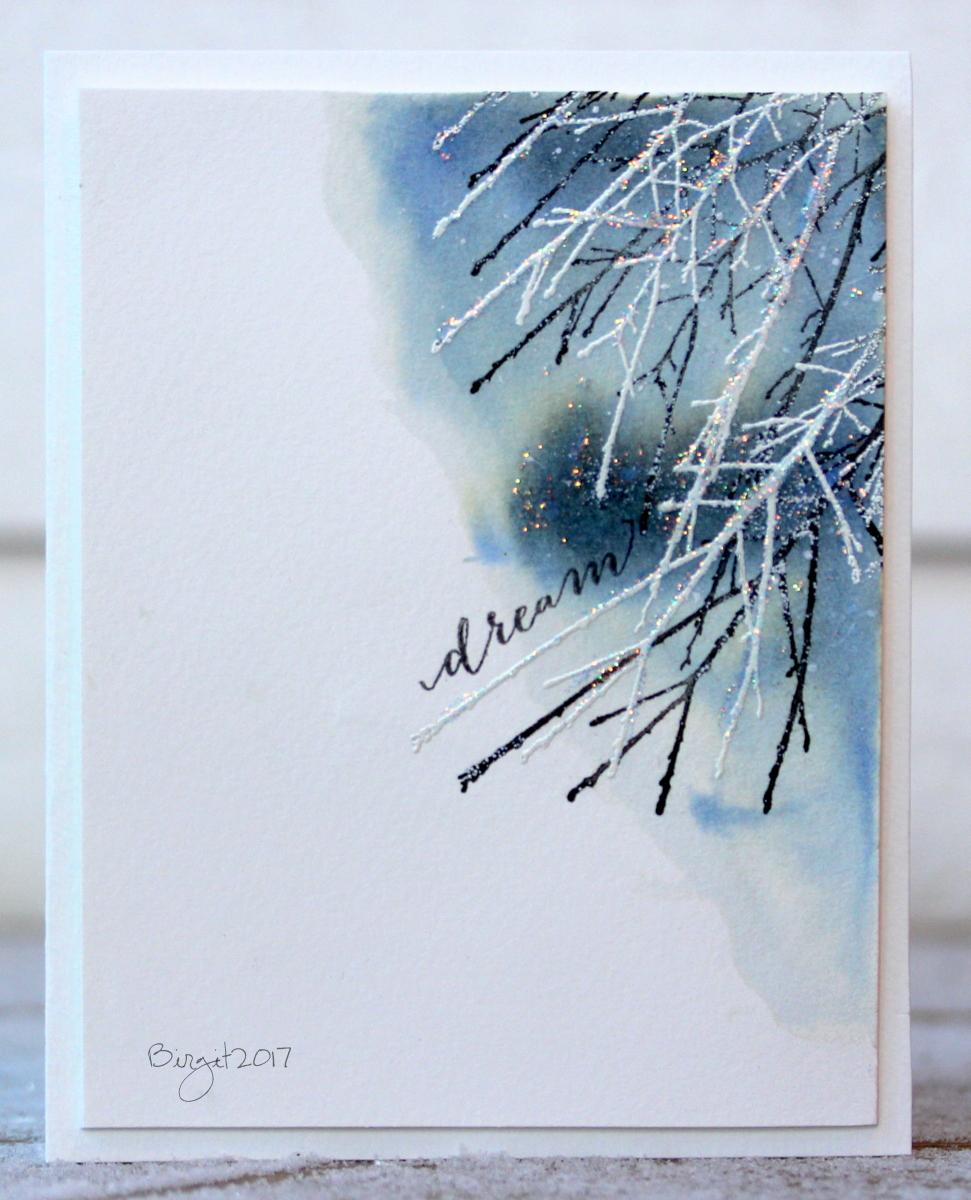 Стильные открытки на новый год акварелью