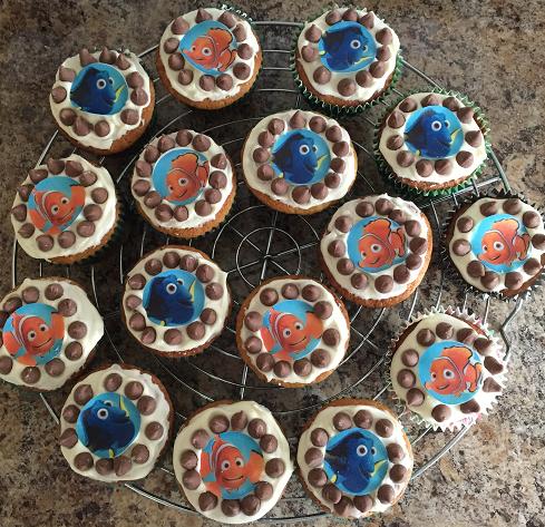 Finding Nemo Gluten Free Choc Chip Cupcakes