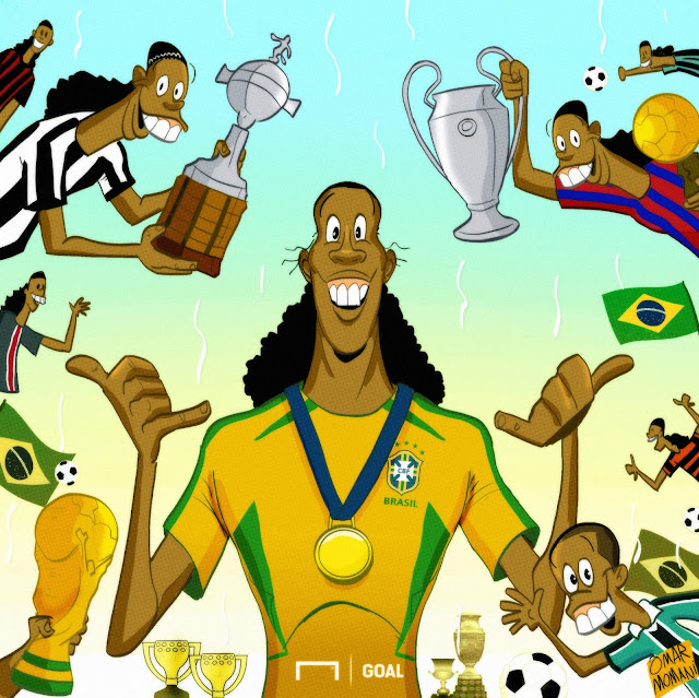 Ronaldinho cartoon