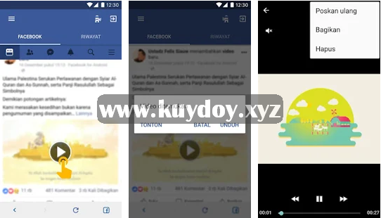 cara download video di facebook lite dengan aplikasi