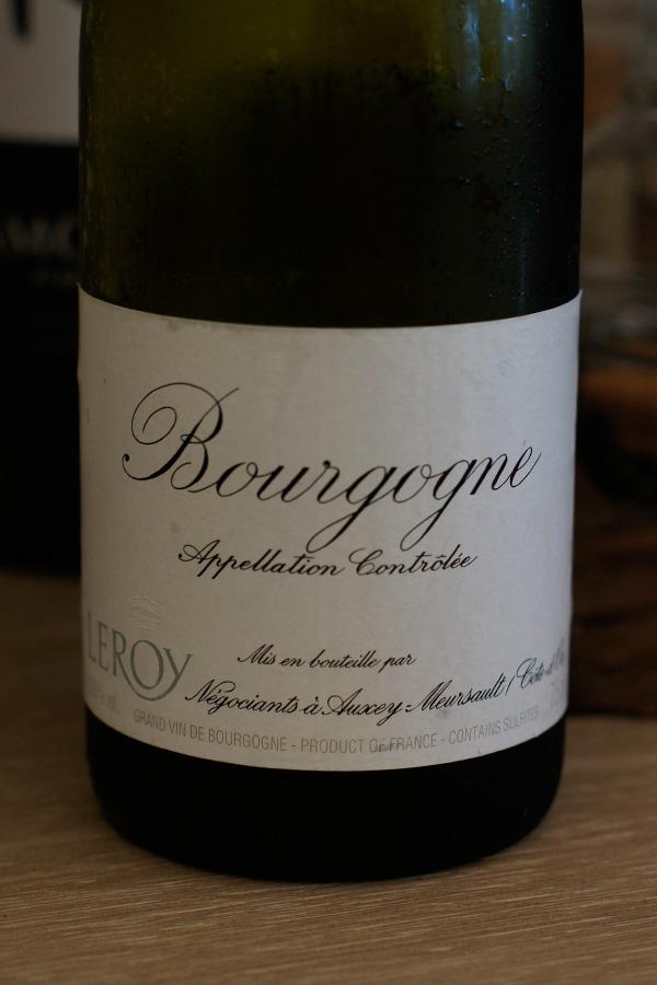 葡萄酒隨手記: Maison Leroy Bourgogne Chardonnay 1998 樂花園 勃根地 夏多內 1998 白葡萄酒_與家齊兄的品飲會之二