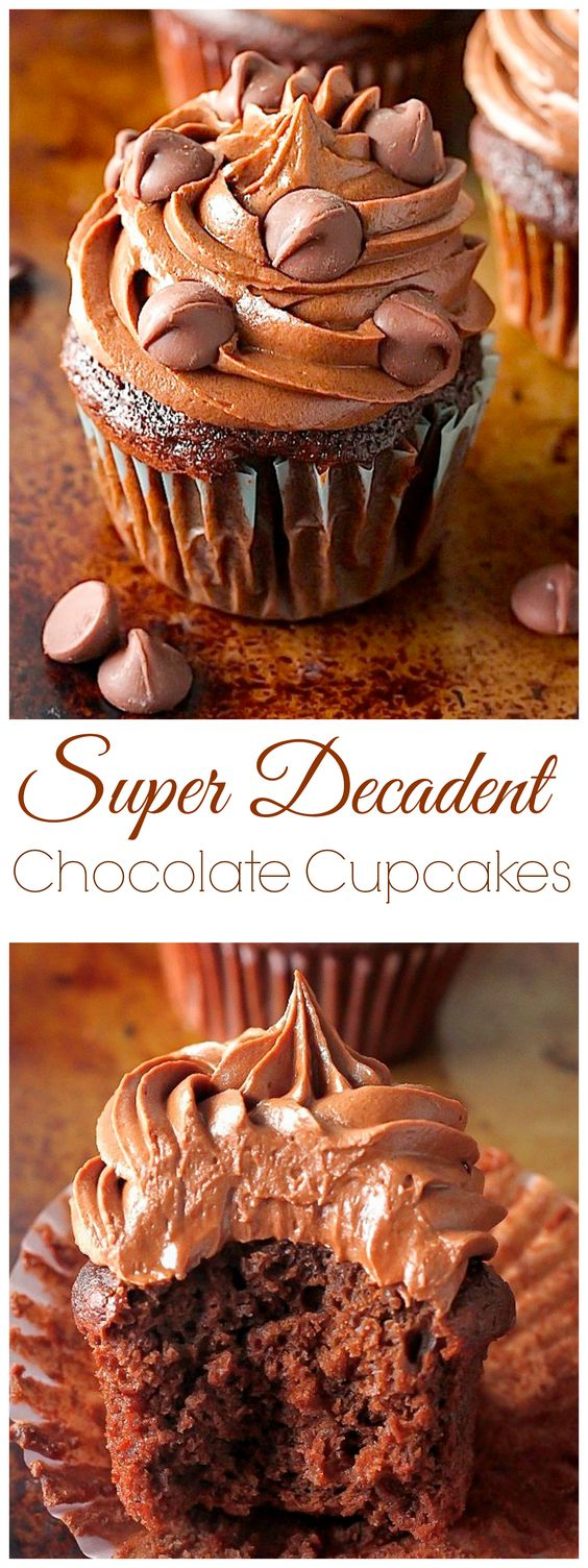Super Decadent Chocolate Cupcakes