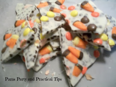 A picture of thanksgiving Bark with candy corn