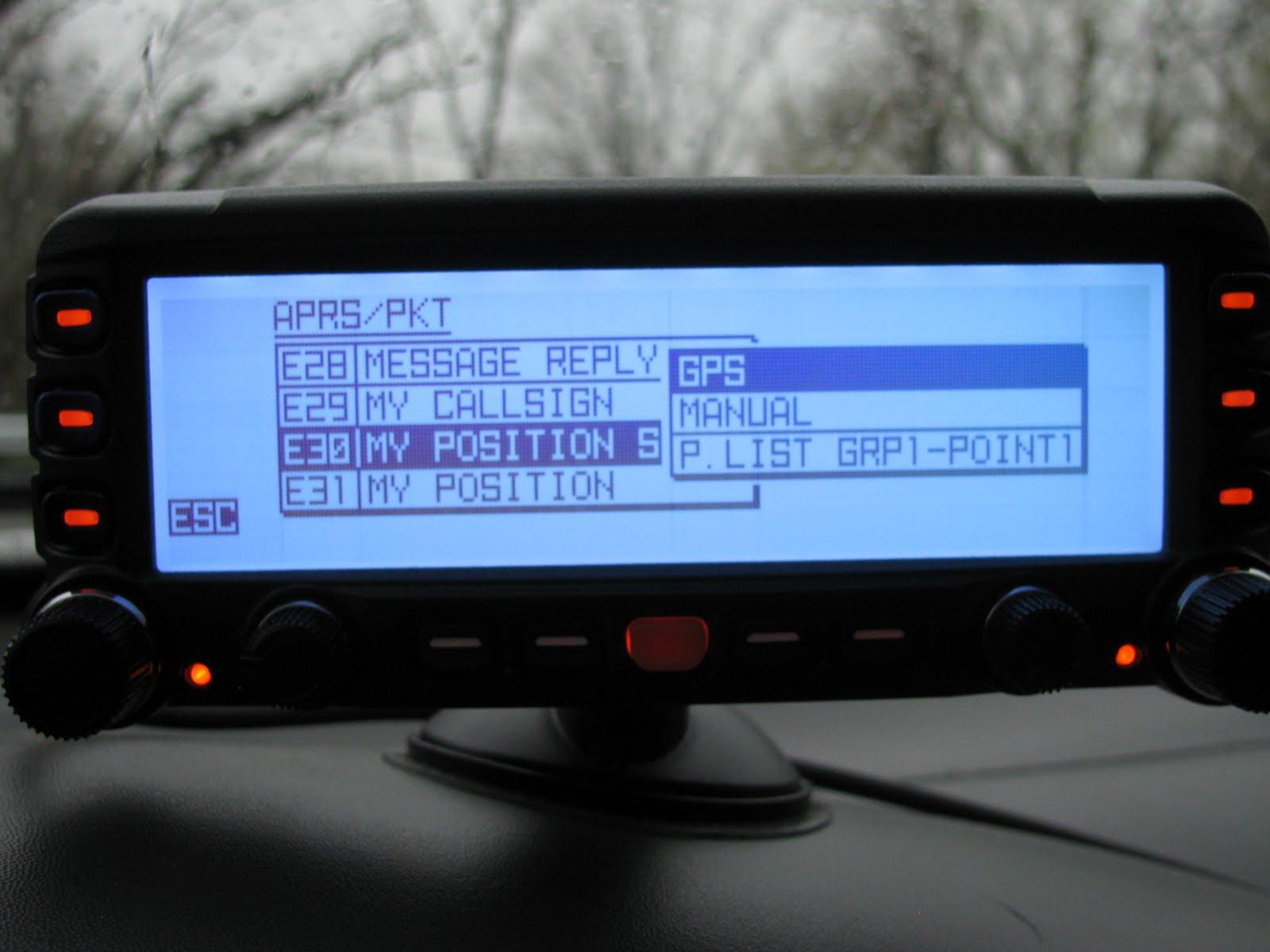 KD8KSN QRV: Configuring APRS on the Yaesu FTM-350AR