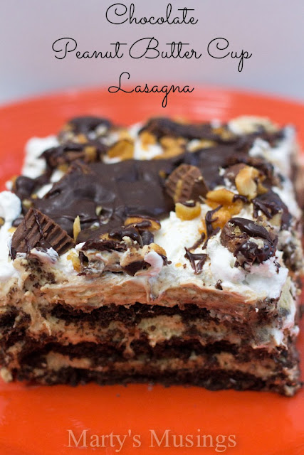 Chocolate Peanut Butter Cup Lasagna