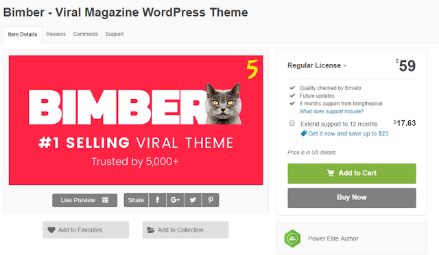 bimber wordpress theme