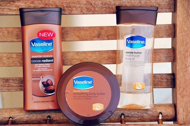 Vaseline Cocoa butter line Body lotion, Body butter and Body oil