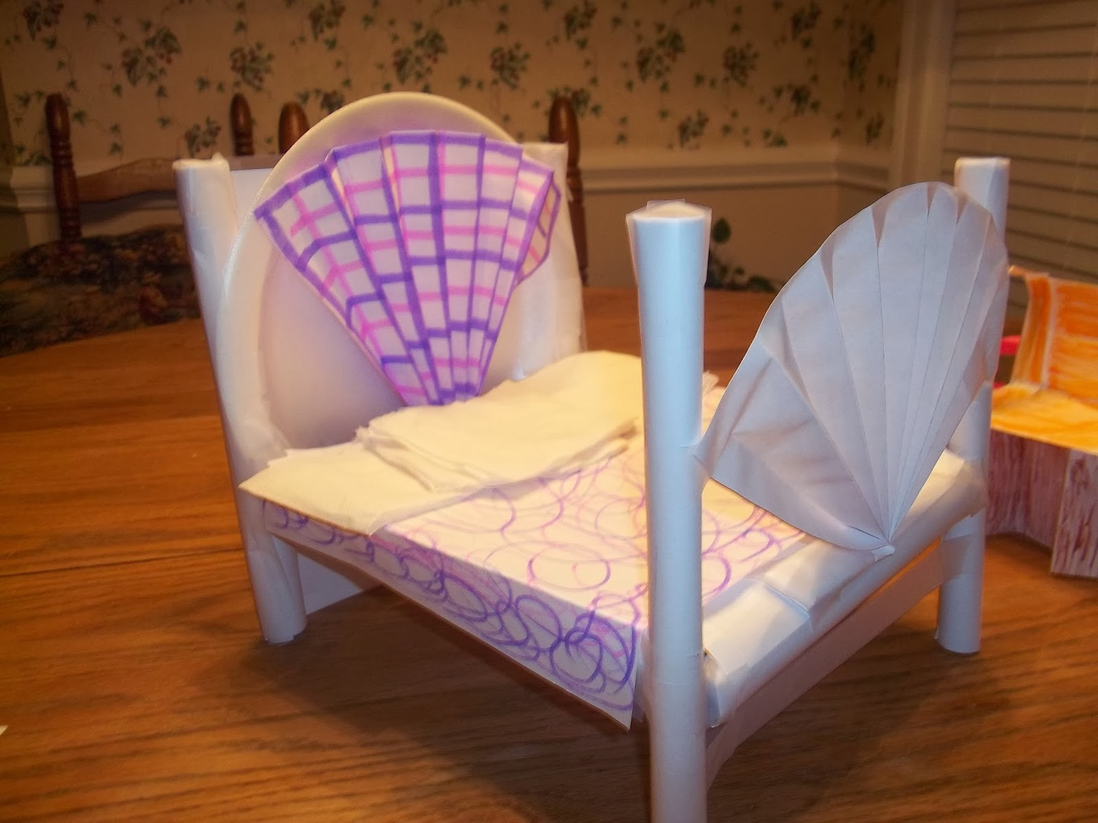 How to... a Make Doll's House Bed | Paper doll house, Dollhouse ... | 1200x1600