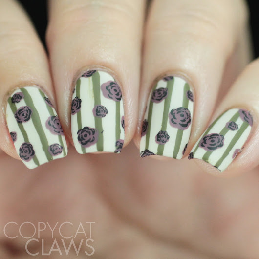 26 Great Nail Art Ideas - Pattern on Pattern, with the UberChic Beauty Striper Brush