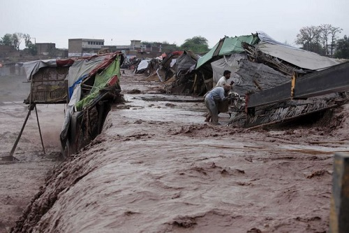 Photo of flood in Pakistan