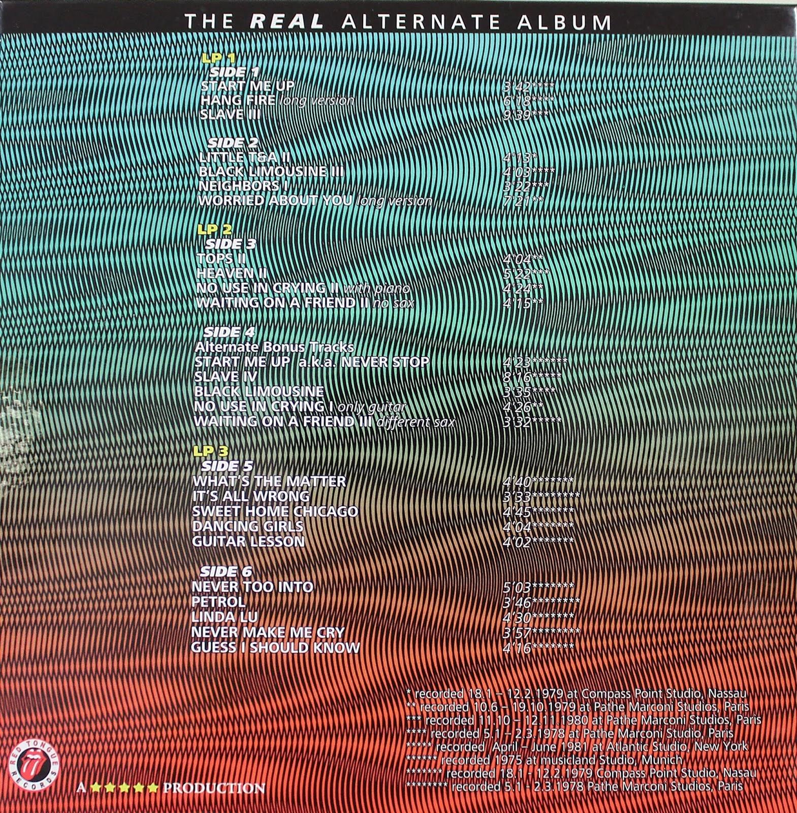 Reliquary Rolling Stones The Real Alternate Album