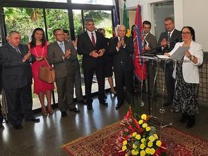 Cerimônia de instalação da nova vara crime do TJ-BA Foto: Divulgação / TJ-BA)