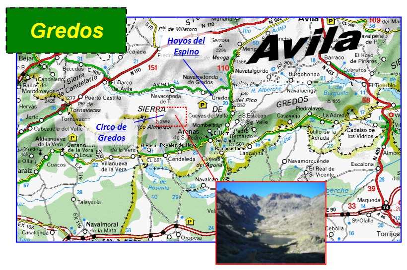 Sierra De Gredos Mapa.Sendas De Burgos Circo De Gredos