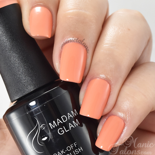 Madam Glam Gel Polish Peachy Swatch