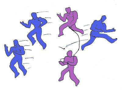Salto alto atletismo juego lleva grupal soga