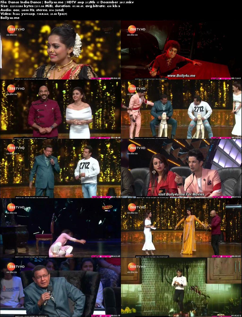 Dance India Dance HDTV 480p 200Mb 17 Dec 2017 Download