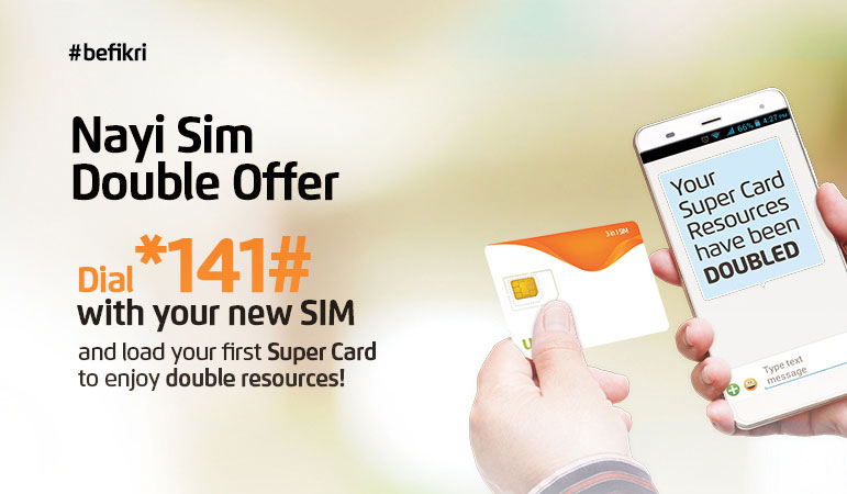 Ufone Nayi Sim Double Offer 2018