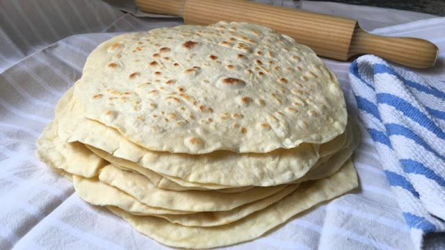 Tortillas de trigo caseras para burritos quesadillas