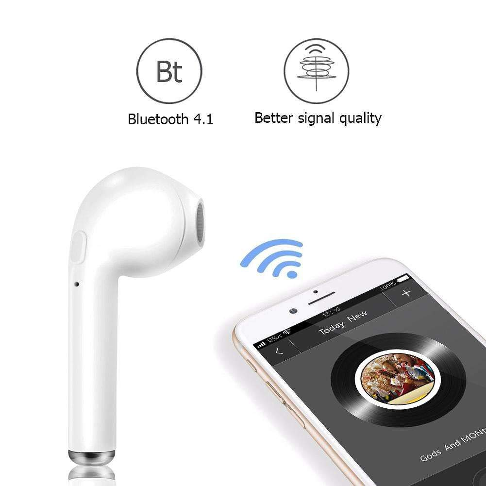 62d70c528 TechHunk Universal i7 Single Wireless Bluetooth Headset Earphone with  Calling Mic Handsfree Support for Android and All Other Smartphones