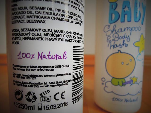 Kosmetika Hristina cosmetics  Mother & Baby Baby Body lotion složení
