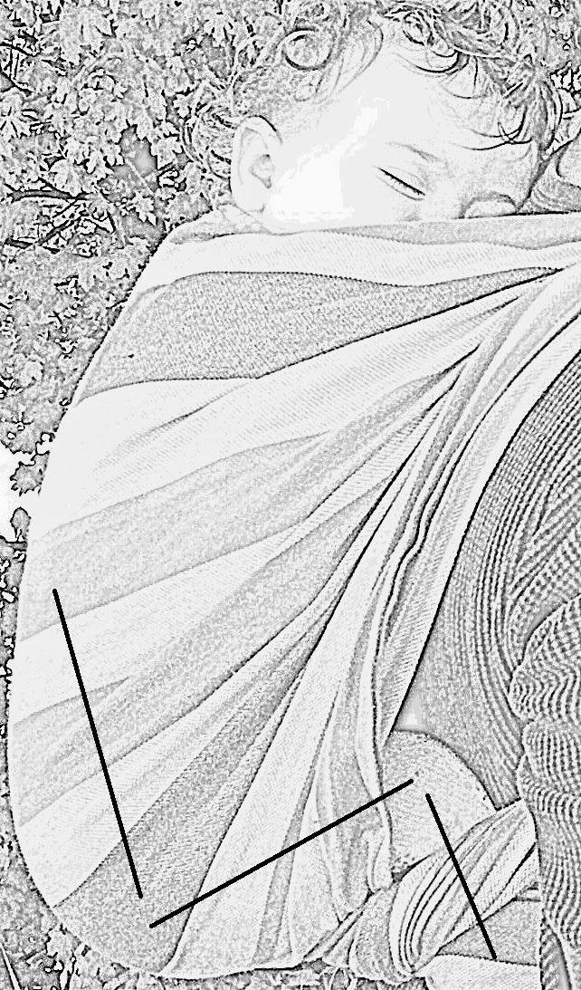 portage bébé BB reflux RGO tissu écharpe physiologique position hauteur cambre kangourou