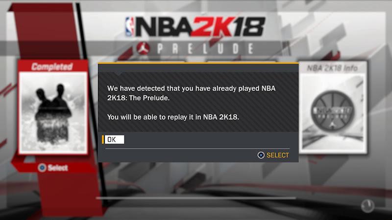 Replay NBA 2K18 Demo