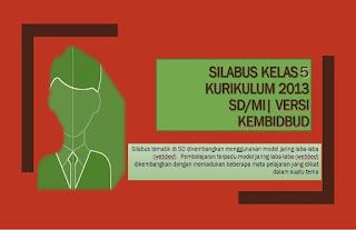 Download Silabus K13 Kelas 5 dapat digunakan di semester 1 dan 2