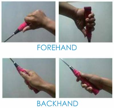 teknik dasar cara memegang raket badminton bulutangkis yang benar