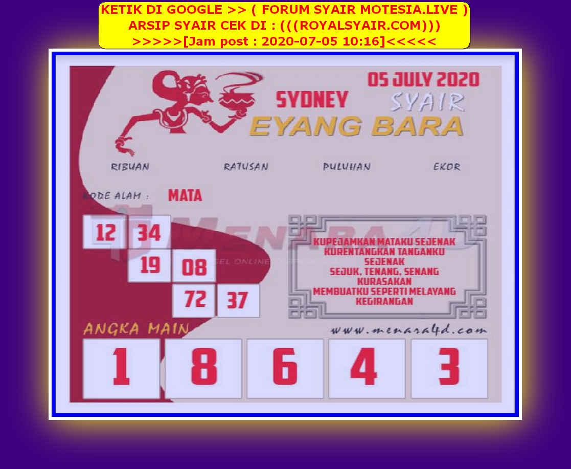 Kode syair Sydney Minggu 5 Juli 2020 61