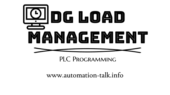 PLC Program for 2 DG Load Management