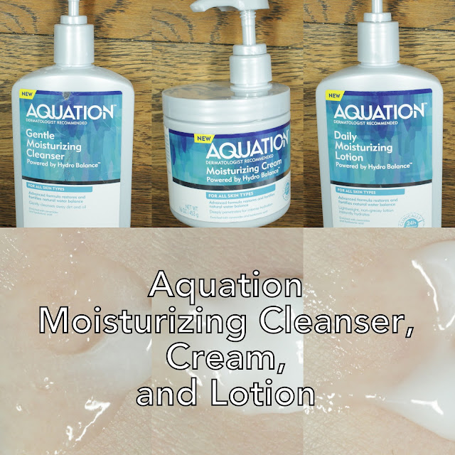 Aquation Moisturizing Cleanser, Cream, and Lotion