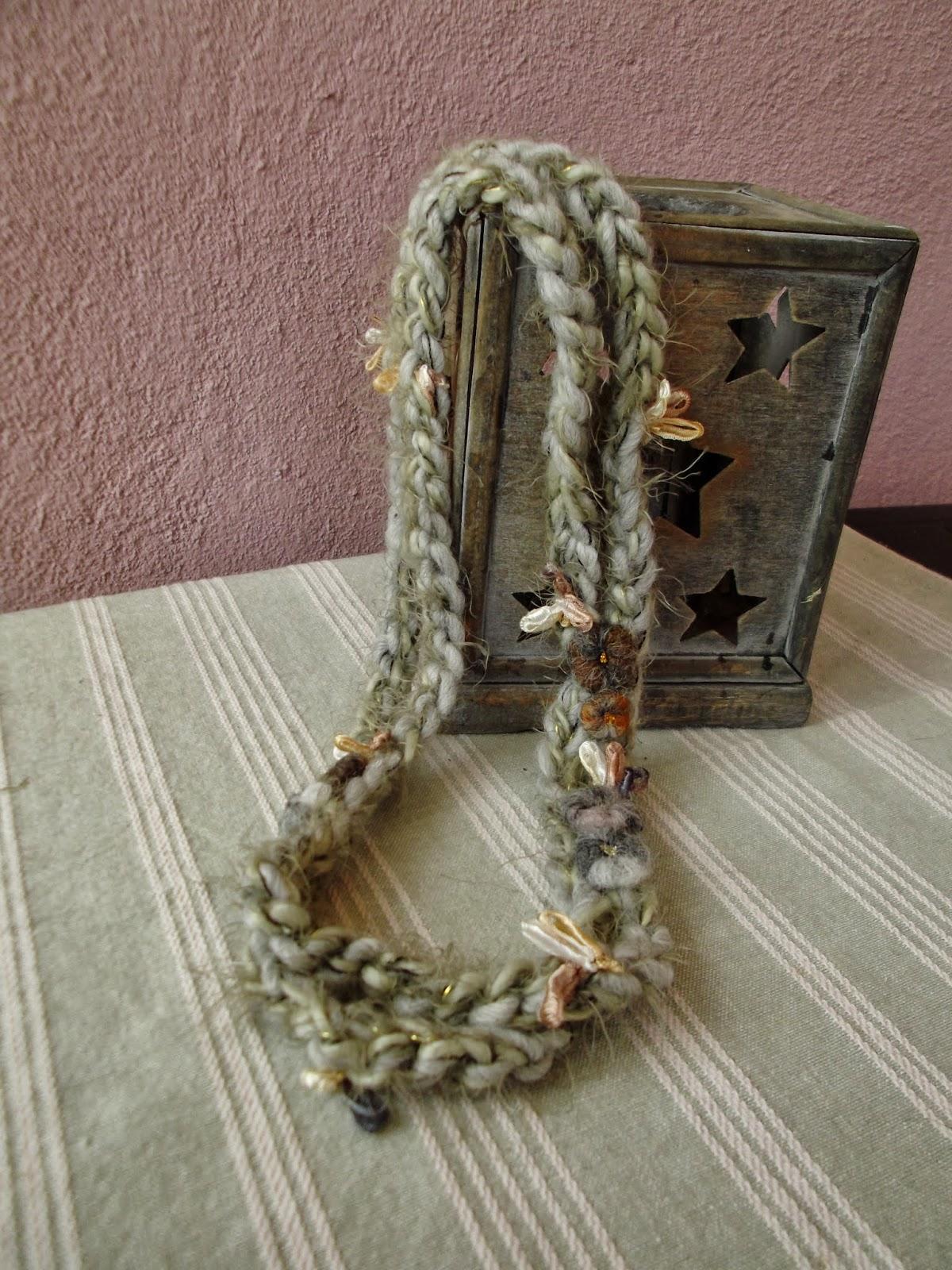 Conosciuto Collane e bracciali di lana, con decorazioni di fiori in lana  OQ67