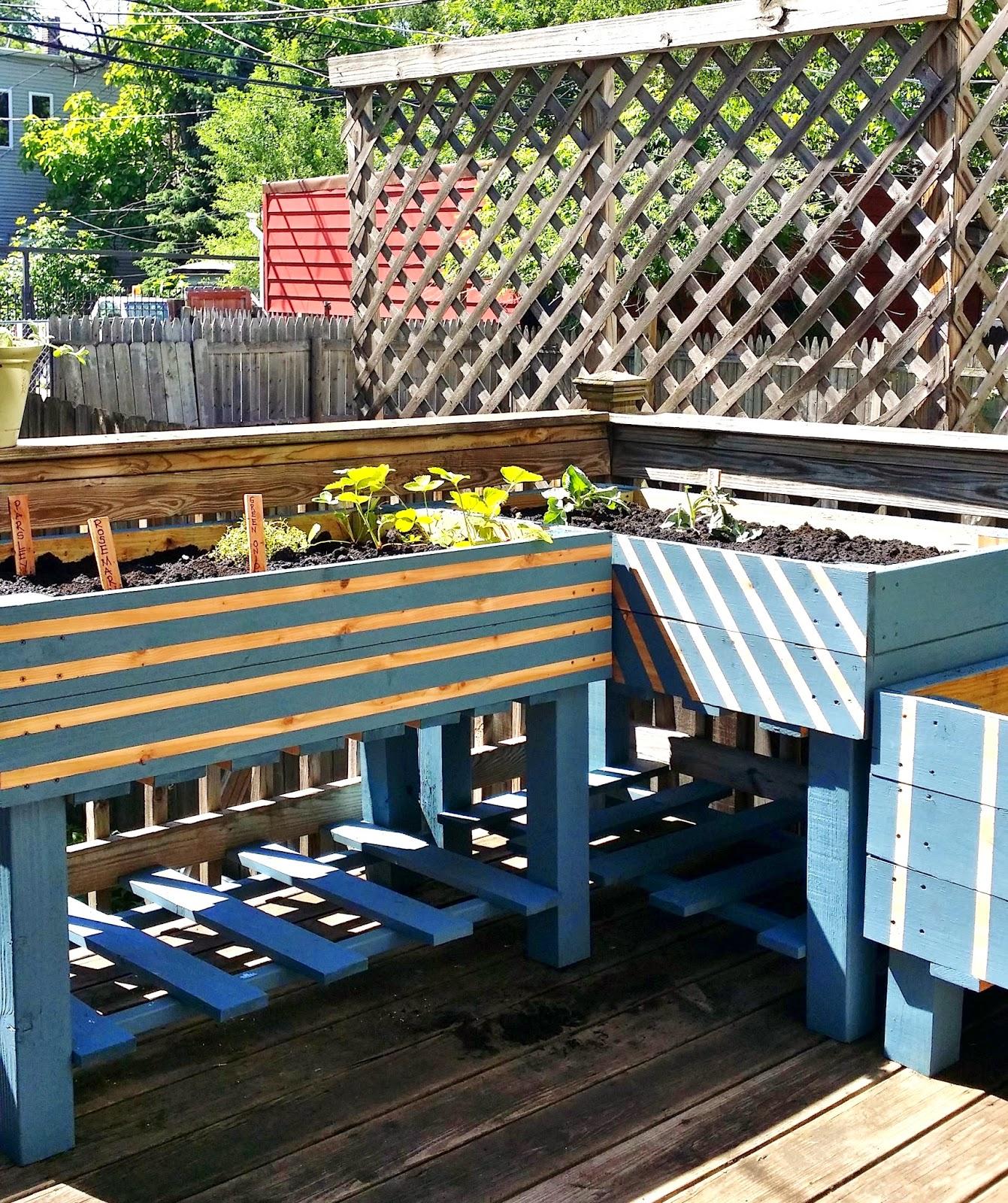 Raised Planters On Legs: Apartment 528: The Weekender: Urban Gardening Part 1