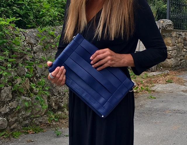 Justfab, look of the day, dress, style, fashion blogger, bag, sandalias, vestido negro largo, bolso de mano, lifestyle