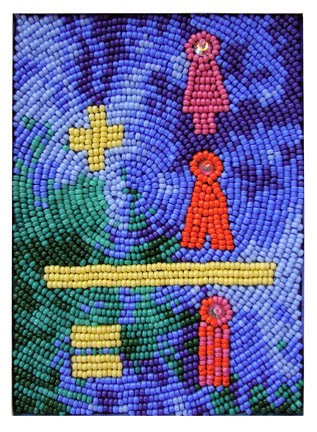 Robin Atkins, bead embroidery, save the world
