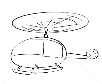 Planse De Colorat Cu Elicoptere Mijloc De Transport Aerian