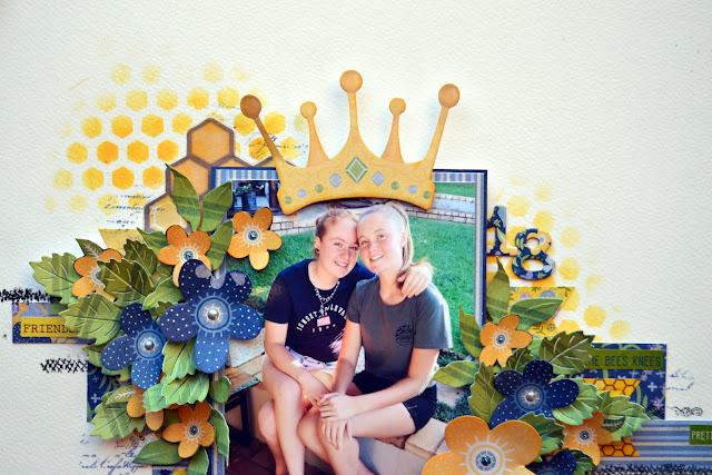 Bee-Utiful_Mixed Media Layout_Denise_24 May 02