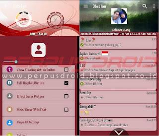 Download BBM Mod Chat Me Versi 3.0.0.18 Apk Red Maroen Terbaru