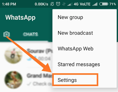 secure WhatsApp from hackers step 2