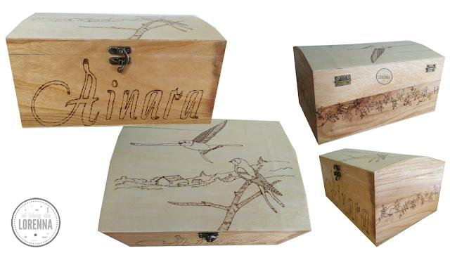 Caja de madera bautizo