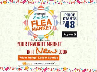 Shopclues Sunday Flea Market sale