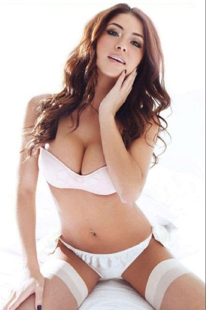Latina big boob in overalls
