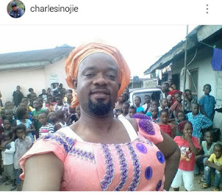 , Hilarious! Nollywood Actor turns a woman (Photos), Latest Nigeria News, Daily Devotionals & Celebrity Gossips - Chidispalace
